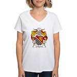 Galeano Family Crest Women's V-Neck T-Shirt
