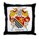 Galeano Family Crest Throw Pillow