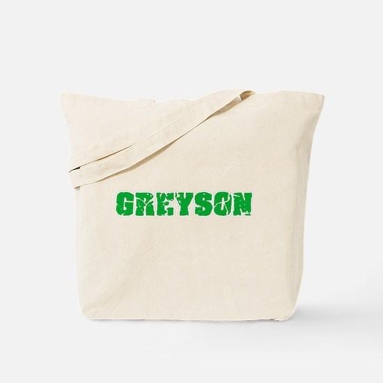 Greyson Name Weathered Green Design Tote Bag