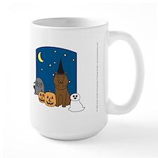 Brown Poodle Halloween Mug
