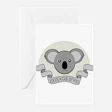 100% Koalafied Greeting Cards