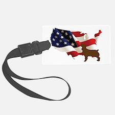 USA Proud Boykin Spaniel Luggage Tag