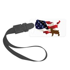 USA Proud Boykin Spaniel Luggage Tag