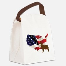 USA Proud Boykin Spaniel Canvas Lunch Bag