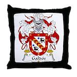 Galdos Family Crest Throw Pillow