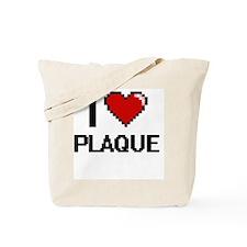 I Love Plaque Digital Design Tote Bag
