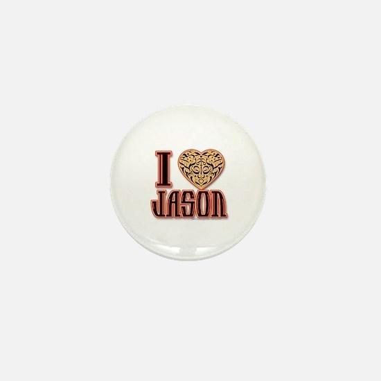 I Love Jason Mini Button