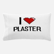 I Love Plaster Digital Design Pillow Case