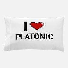 I Love Platonic Digital Design Pillow Case