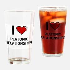 I Love Platonic Relationships Digit Drinking Glass