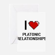 I Love Platonic Relationships Digit Greeting Cards