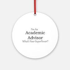 Academic Advisor Round Ornament