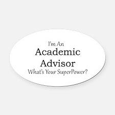 Academic Advisor Oval Car Magnet