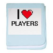 I Love Players Digital Design baby blanket