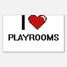 I Love Playrooms Digital Design Decal