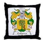 Galarza Family Crest Throw Pillow
