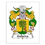 Galarza Family Crest Small Poster