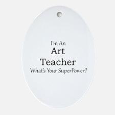 Art Teacher Oval Ornament