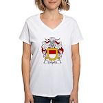 Galaon Family Crest Women's V-Neck T-Shirt
