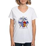 Galan Family Crest Women's V-Neck T-Shirt