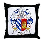 Galan Family Crest Throw Pillow