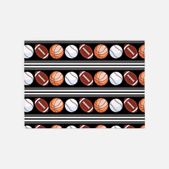Sports Fan 5'x7'Area Rug