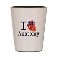 I love Cardiology Shot Glass