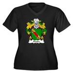 Freire Family Crest Women's Plus Size V-Neck Dark