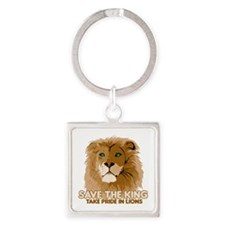 Lion Save the King Square Keychain