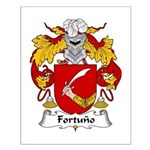 Fortuno Family Crest Small Poster