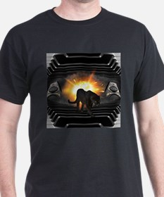 electric keyboard black panther T-Shirt