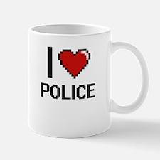 I Love Police Digital Design Mugs
