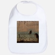 farm fence landscape bird Bib