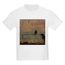 farm fence landscape bird T-Shirt
