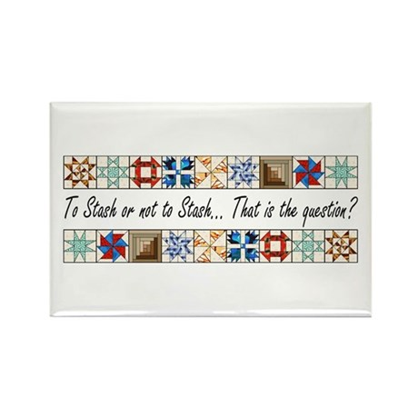 Quilters Rectangle Magnet