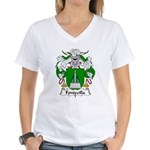 Fontecilla Family Crest Women's V-Neck T-Shirt