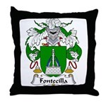 Fontecilla Family Crest Throw Pillow