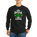 Fontecilla Family Crest Long Sleeve Dark T-Shirt