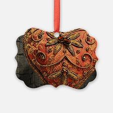 vintage scandinavian embroidery h Ornament
