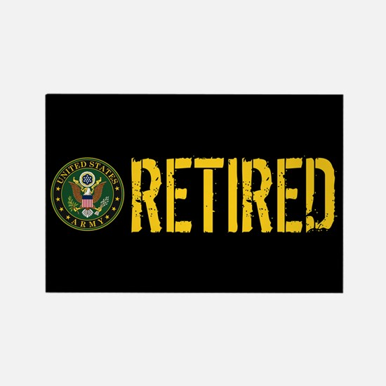 U.S. Army: Retired Rectangle Magnet