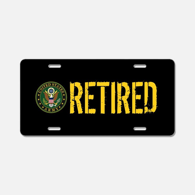 U.S. Army: Retired Aluminum License Plate