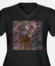 camouflage western country deer Plus Size T-Shirt