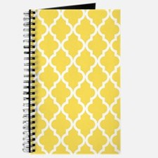 Yellow, Canary: Quatrefoil Moroccan Patter Journal