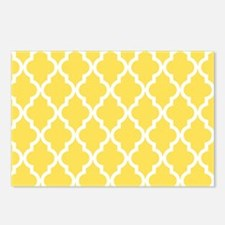 Yellow, Canary: Quatrefoi Postcards (Package of 8)
