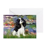 Lilies and Tri Cavalier Greeting Card