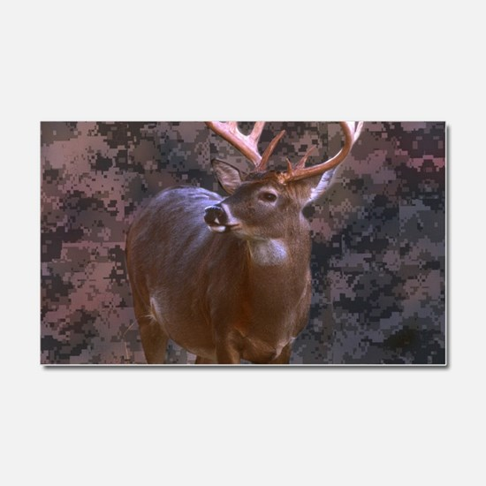 camouflage western country deer Car Magnet 20 x 12