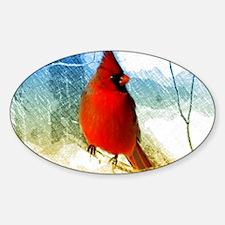 watercolor winter red cardi Decal