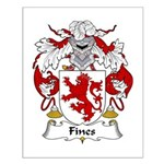 Fines Family Crest Small Poster