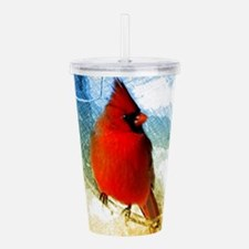 watercolor winter red Acrylic Double-wall Tumbler