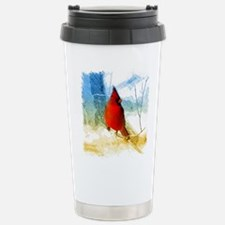 watercolor winter red c Stainless Steel Travel Mug